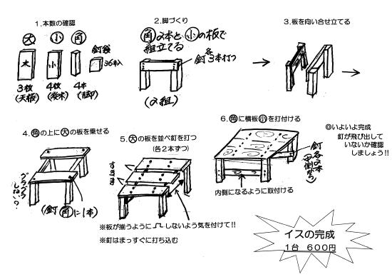 木製手作りイス組立キット-s